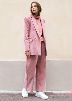 Pink Corduroy Wide Leg Pants – The Frankie Shop