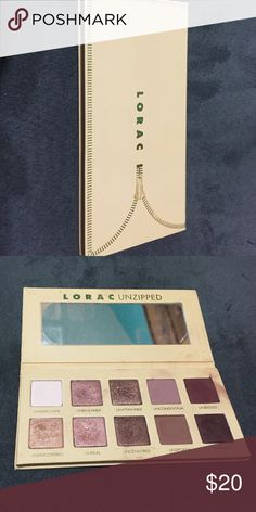 Lorac Unzipped Palette Used a handful of times. Eye shadows are very soft and pigmented, just prefer other palettes. LORAC Makeup Eyeshadow