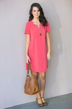 Martina Short Sleeve Tunic Dress