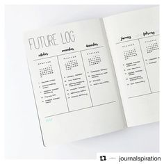 #Repost @journalspiration ・・・ I thought it would be a great idea to show you a closer version of the future log since so many of you liked it! I decided to try a more natural look for my photos, I can't decide what kind of theme I want for my Instagram feed. I'm so indecisive when it comes to my photos, it's like my bullet journal. i need to change things all the time. I hope my experiments don't bother you! ____________ Ich dachte, es wäre eine gute Idee, euch eine Nahaufnahme des f...