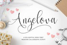 DLOLLEYS HELP: Angelova Free Font