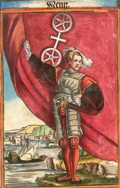 "Mainz am Rhein [Menz] (= Mayence) (f°79) -- Koebel, Jacob, ""Wapen des heyligen römischen Reichs teutscher Nation"", Franckfurth am Main, 1545 [BSB Ms. Rar. 2155]"