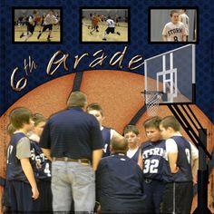 Basketball layout Scrapbooking Ideas, Scrapbook Layouts, Scrapbook Pages, Making Memories, Basketball, Boys, Baby Boys, Senior Boys, Smash Book Pages