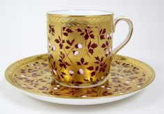 exotic antique tableware   Antique Wedgwood 4 Oz Demitasse Tea Cup Red & White Thistle On Gold ...
