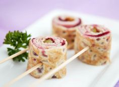 Cranberry & Ham Roll-up Crepes made with Marcel's Ooh La La Gluten Free Crepes Breakfast Recipes, Dinner Recipes, Dessert Recipes, Desserts, Ham Roll Ups, Gluten Free Crepes, Crepe Recipes, Recipe Ideas, Rolls