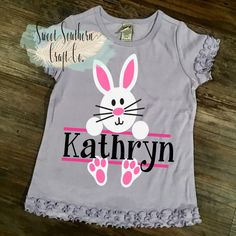 FREE SHIPPINGGirls Bunny Easter by SweetSouthernCraftCo on Etsy