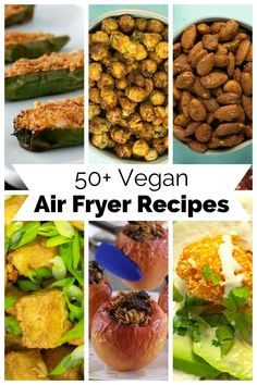Wondering what to make in your air fryer? Get the very best vegan air fryer recipes to help you make the most of this amazing kitchen tool. Vegan Blogs, Vegan Breakfast Recipes, Delicious Vegan Recipes, Vegan Snacks, Healthy Recipes, Tasty, Air Fryer Recipes Snacks, Snack Recipes, Onion Bhaji