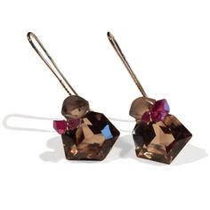 Annette Ehinger - Quartz & Tourmaline Earrings - ORRO Contemporary Jewellery Glasgow - www.orro.co.uk