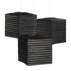 Laterne Lampion Quadrat 25x25cm Schwarz 3 Stück Deko: Amazon.de: Beleuchtung