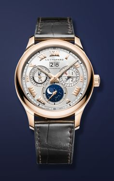 Easily one of the most beautiful timepieces I've ever seen. CHOPARD L.U.C Lunar One, a perpetual calendar with an orbital moon-phase display.