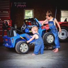 childrens photography, mechanic themed session