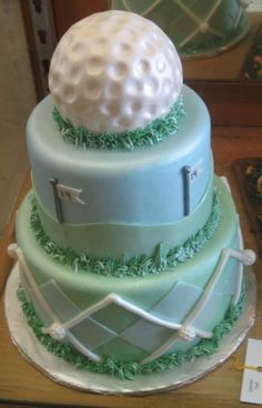 golf-themed groom cake