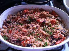 Carrot, beet, quinoa salad
