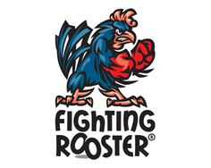 Fighting Rooster Logo design - Angry fighting rooster cartoon character in classical style. Contrast colors and aggressive shape adds a manly mood to this logo. Warfare till victory! <br /><br />Suitable for round-sport business: Sport Bar, Sportswear, Fighting Club, Football Team Mascot etc. <br /><br />Three Pantone® swatches, CMYK, B