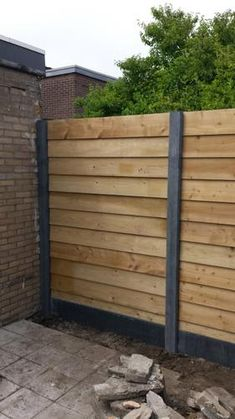 Outdoor Fencing, Backyard Fences, Outdoor Landscaping, Diy Privacy Fence, Wood Fence Design, House Makeovers, Pergola, Exterior Cladding, Garden Doors