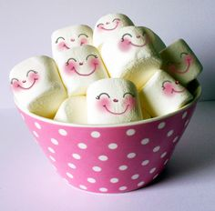 Pink Bowl Happy Marshmallows