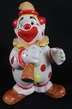 Happy Circus Clown in Red and White Polka Dots  by CheekyBirdy