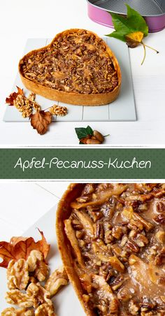 Apfel-Pecanuss-Kuchen APPLE PECANUSS CAKE Outside, it's wet and cold, so we make ourselves comfortable and conjure up this deliciously juicy apple pecan nut cake. But the smell dispels all sad autumn thoughts, promised! Pecan Recipes, Apple Recipes, Dessert Recipes, Hawaiian Sweet Breads, Pecan Cake, Cupcakes, New Orleans Recipes, Thanksgiving Recipes, Bakery