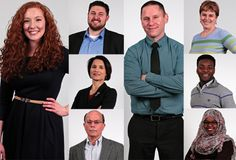 Some of the 13 total keynote speakers scheduled to present at the 4th TEDxOhioStateUniversity on Feb. 14 at Mershon Auditorium. The theme of this year's event, 'The Human Narrative,' highlights stories and ideas that represent a 'collective story.' Credit: Courtesy of OSU
