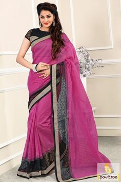 Find out black dark pink silk net saree online shopping 2016 in Surat India Women fashion portal. New year party and wedding wear saree is ready to with film patti lace and zari work. #sarees, #saree, #sari, #wedding, #partywear, #sareeonline, #buysaree, #sareewithblouse, #designersaree, #weddingwearsaree, #silksaree, #chanderisaree More : http://www.pavitraa.in/store/party-wear-saree/ Call / WhatsApp : +91-76982-34040  E-mail: info@pavitraa.in