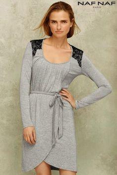 66a33f67d4c Buy Naf Naf Mid-Length Long Sleeves Dress online today at Next  Rep.