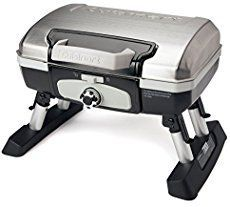 Enjoy grilled meats and veggies wherever the day takes you in this Cuisinart Petit Gourmet One-Burner Tabletop Portable Propane Stainless Gas Grill. Portable Grill, Camping Grill, Propane Gas Grill, Strip Steak, Barbecue Grill, Charcoal Grill, Outdoor Cooking, Thing 1, Stainless Steel