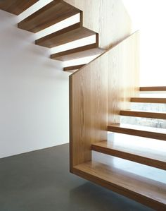 I'm not such a fan of open stairs but this one is beautiful