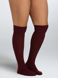 Plus Size Ribbed Knee-High 2 Pack Socks, MULTICOLOR