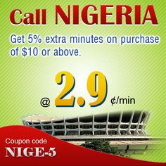 Start saving! Get 5% Extra Minutes for Nigeria