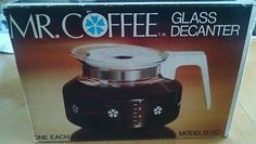 Mr Coffee Pot Glass Vintage Decanter Model D-7C Brown Lid 8 Cup in original box