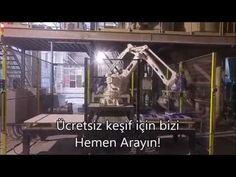 Paletleme robotu Tara Robotik Otomasyon tarafından ABB IRB 460 tipi yüksek hızlı paletleme robotu kullanılarak devreye alınmıştır. Sistemde gelen yapı kimyasalları torbaları paletleme robotu yardımıyla alınarak paletlere ABB marka robot kol ile otomatik olarak paletlenmektedir. Tara Robotik Otomasyon tarafından kurgulanan paletleme sisteminde paletleme robotunun etrafında iki adet boş palet istasyonu olduğu için robot palet değişimlerinde durmamakta ve zaman kaybetmektedir. Oldukça hızlı…