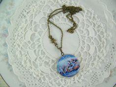 Fairy Locket Flying Fish Locket Fairytale by CreatedinTheWoods