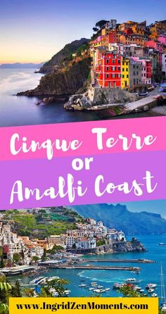Cinque Terre or Amalfi Coast - which one to choose for your next Italy travel destination? Both are some of the most beautiful Italy destinations, however, making a choice for your Italy trip cannot be easy. Travel Tips For Europe, Italy Travel Tips, Travel Info, Travel Guides, Beautiful Places To Travel, Best Places To Travel, Cool Places To Visit, Italy Destinations, European Road Trip