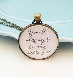 Daughter Necklace Dad to Daughter Gift Dad to Bride by MinMac