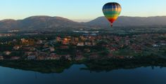 Ballooning at the Hartbeespoort Dam, South Africa.
