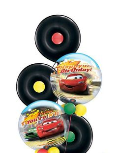 DIY Bubble Cars Balloon Bouquet // Cars theme // Lighning McQueen Happy Birthday$10.95
