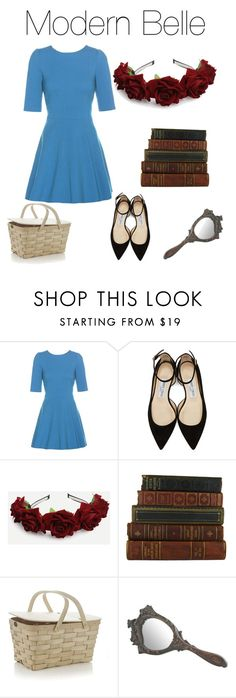"""""""Modern Belle"""" by kayrana-nuzzolese ❤ liked on Polyvore featuring Dolce&Gabbana, Jimmy Choo, Crate and Barrel and modern"""