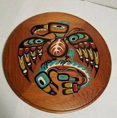 Native Wolf Serigraph First Nations Limited Edition Print Wood Knife, Native Indian, First Nations, Pacific Northwest, North West, Hand Carved, Nativity, Whale, Original Paintings