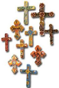 handmade ceramic crosses