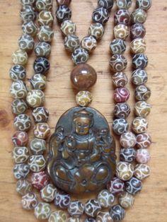 Chrysocolla kuan yin mala beads mala beads pinterest beads kuan yin prayer beads altavistaventures Choice Image