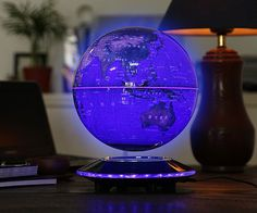 Magnetic Levitation Rotating World Globe - Designed for the future of Kids Education, cool quirky desk decor or maybe even planning your next holiday location!  #Geeky, #HomeDecor, #Kids #Cool, #Globe, #Levitation ● CoolShitiBuy.com
