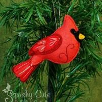 Cardinal Sewing Pattern PDF - Backyard Bird Stuffed Ornament - Felt Plushie - Clarence the Cardinal Cardinal Ornaments, Felt Christmas Ornaments, Christmas Decorations, Bird Ornaments Diy, Christmas Christmas, Ornaments Ideas, Bird Decorations, Christmas Nativity, Beaded Ornaments
