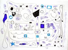 Original signed art Poolside Drawing 128 9 x by allthingsbarbara