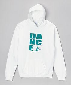 Love this White 'Dance' Hoodie - Girls & Women by Peanuts & Monkeys on #zulily! #zulilyfinds