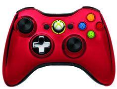 Manette Xbox 360 MICROSOFT Officiel Chrome Edition Rouge X360 et notre rayon jeux vidéo ici http://www.ubaldi.com/jeux-video/jeux-video.php
