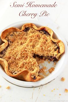 Delicious and Super EASY Cherry Pie… This recipe is AWESOME!!! whatscookingwithruthie.com