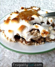 Top spice cake with toasted marshmallows for a gooey alternative to frosting.