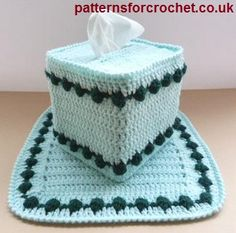 FREE crochet pattern for a Centre Piece & Tissue Box Cover by Patterns For Crochet.