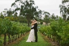In the vines at Peppers Creek, Hunter Valley Wedding Image: Cavanagh Photography http://cavanaghphotography.com.au