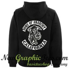 Sons of Anarchy California Hoodie Back